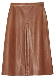 Burberry box pleat mid-length skirt