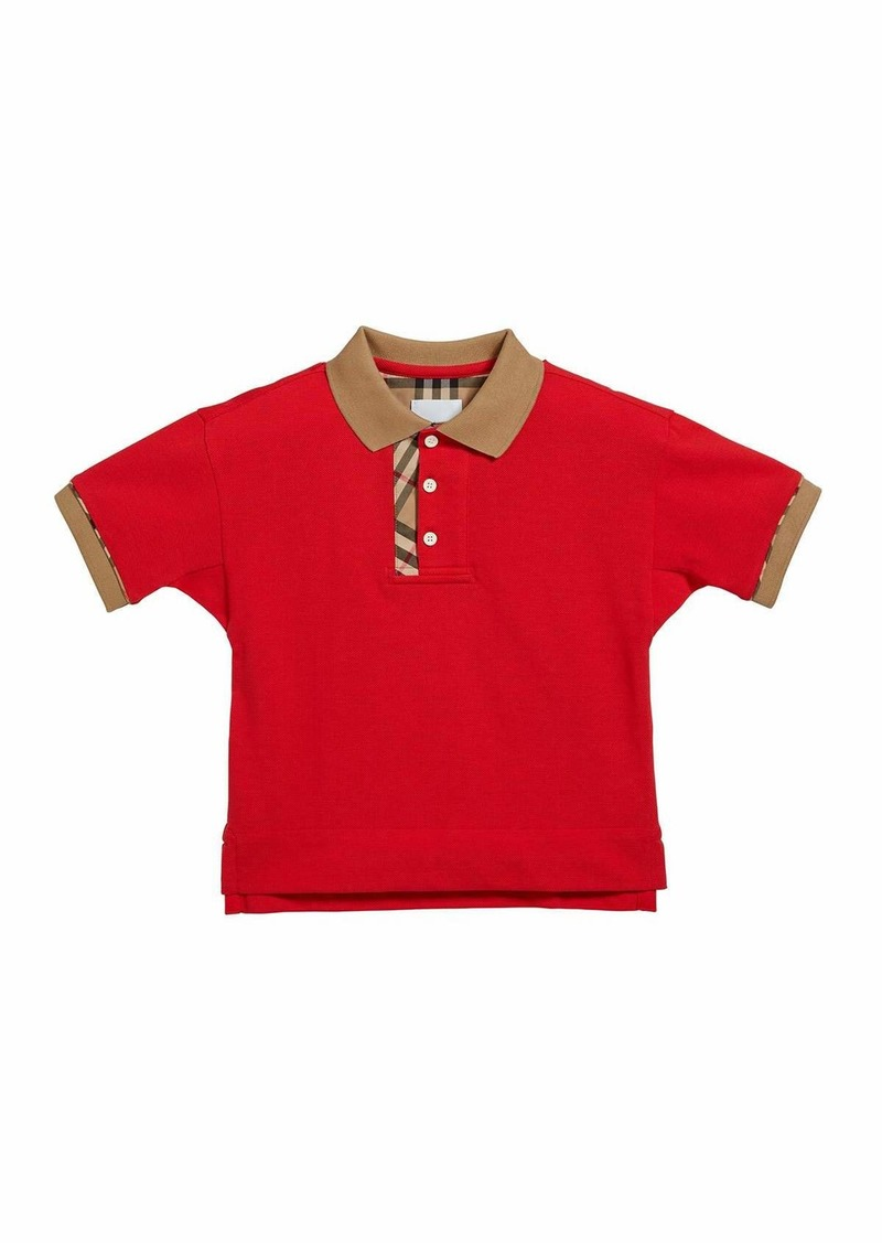 Burberry Boy's Archie Check-Trim Polo Shirt  Size 3-14