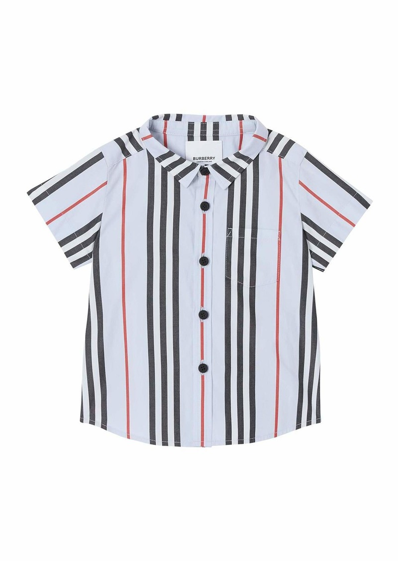 Burberry Boy's Fredrick Icon Stripe Shirt  Size 6M-2