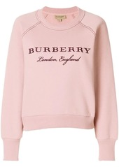 Burberry brand embroidered sweatshirt