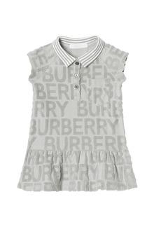 Burberry Brigitta Embossed Terry Logo Polo Dress  Size 6M-2