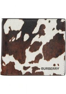 Burberry Brown & White Cow International Bifold Wallet