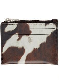 Burberry Brown & White Cow Simone Card Holder