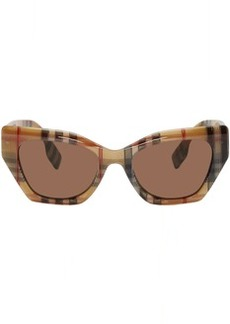 Burberry Brown Acetate Check Butterfly Sunglasses