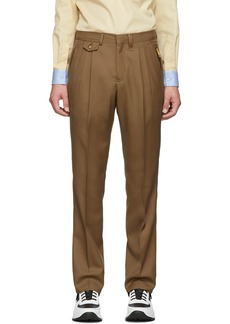 Burberry Brown Formal Trousers
