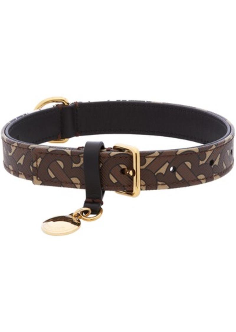 Burberry Brown Medium Monogram Dog Collar