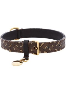 Burberry Brown Medium Monogram Dog Collar