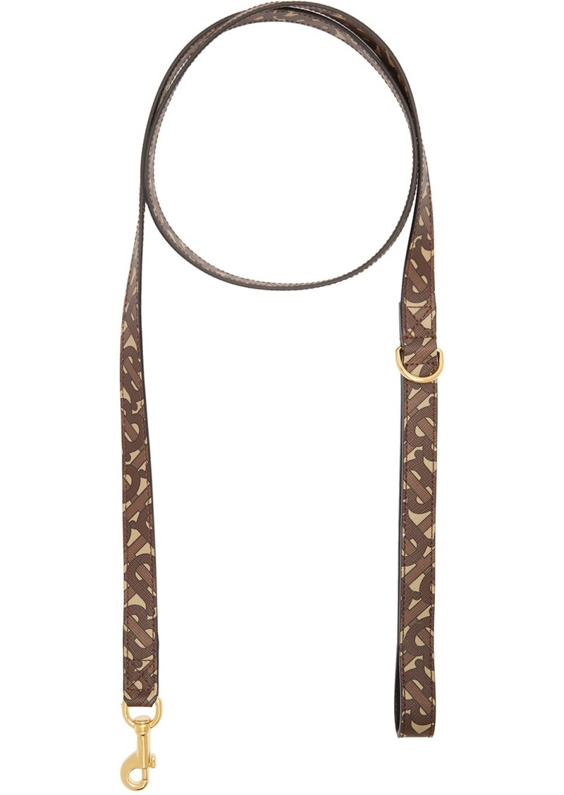 Burberry Brown Monogram Dog Leash