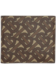 Burberry Brown Monogram E-Canvas Wallet