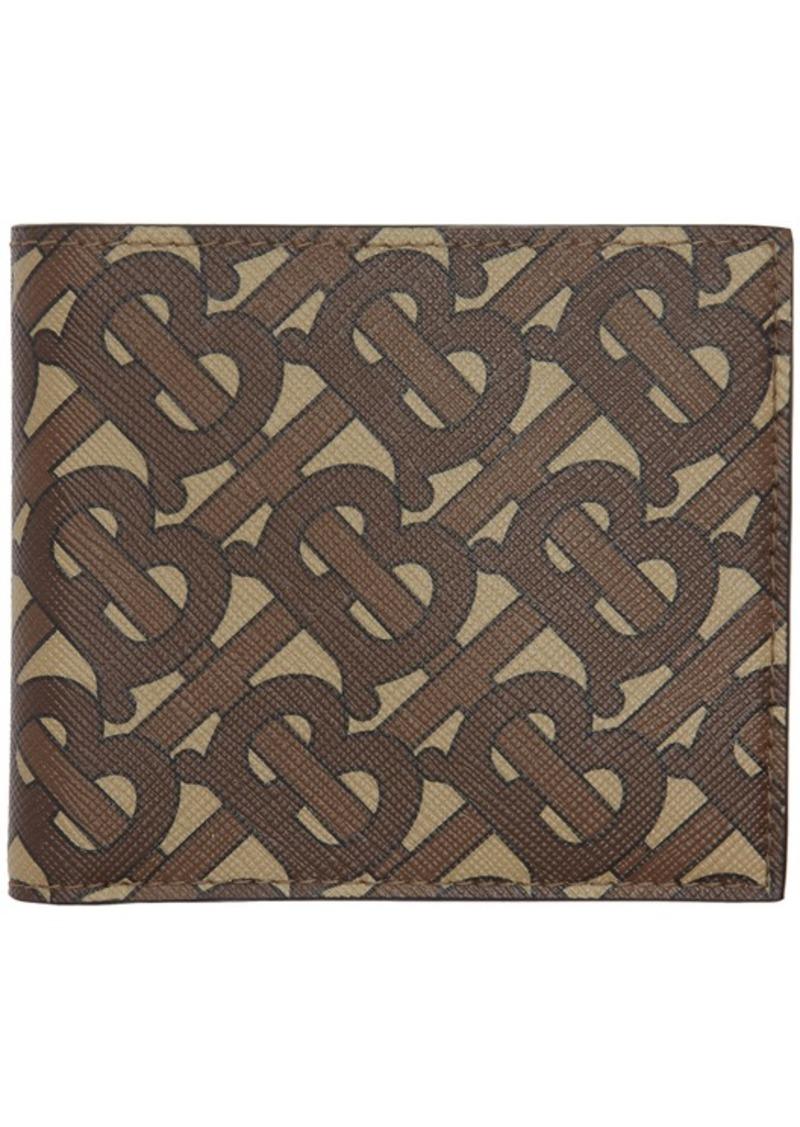 Burberry Brown Monogram E-Canvas Wallet