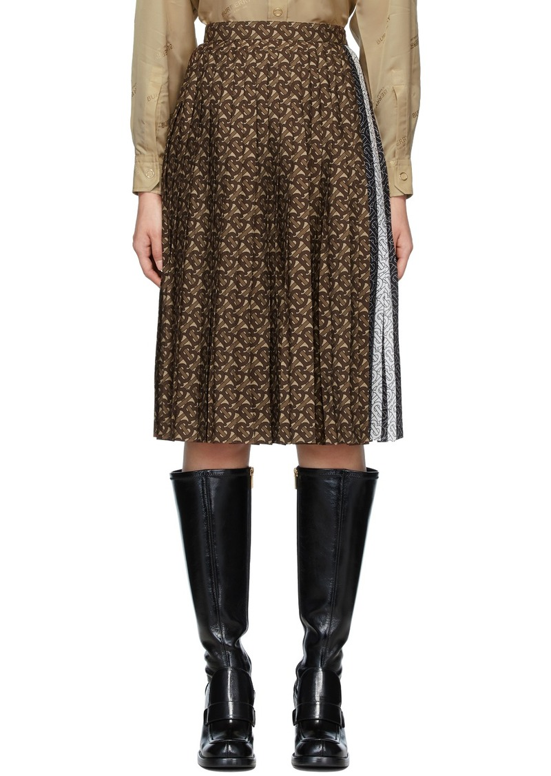 Burberry Brown Monogram Marine Skirt