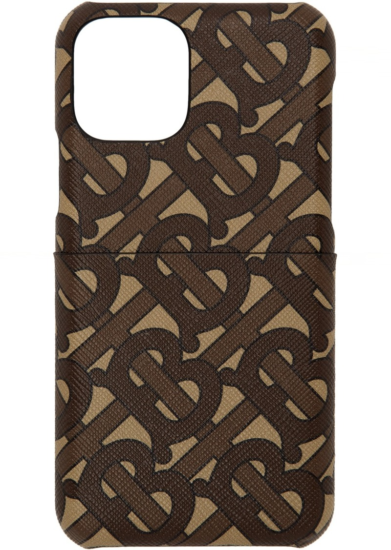 Burberry Brown Monogram Rufus iPhone 11 Pro Case