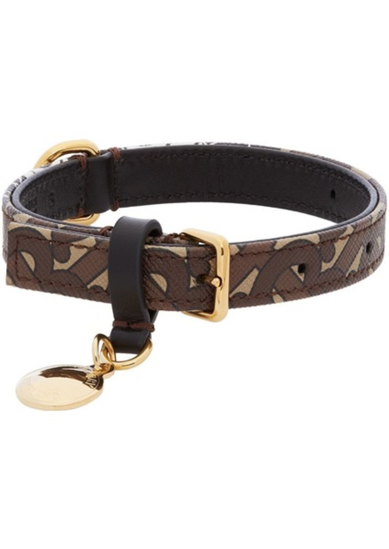 Burberry Brown Small Monogram Dog Collar