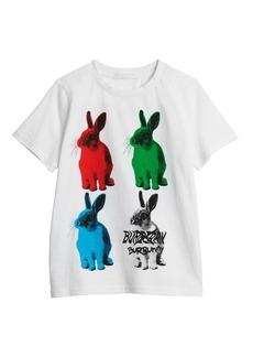 Burberry Bunny-Print Short-Sleeve Tee  Size 3-14
