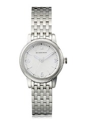 Burberry 30mm Utilitarian Stainless Steel Bracelet Watch