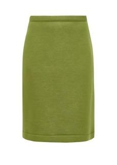 Burberry A-line neoprene skirt