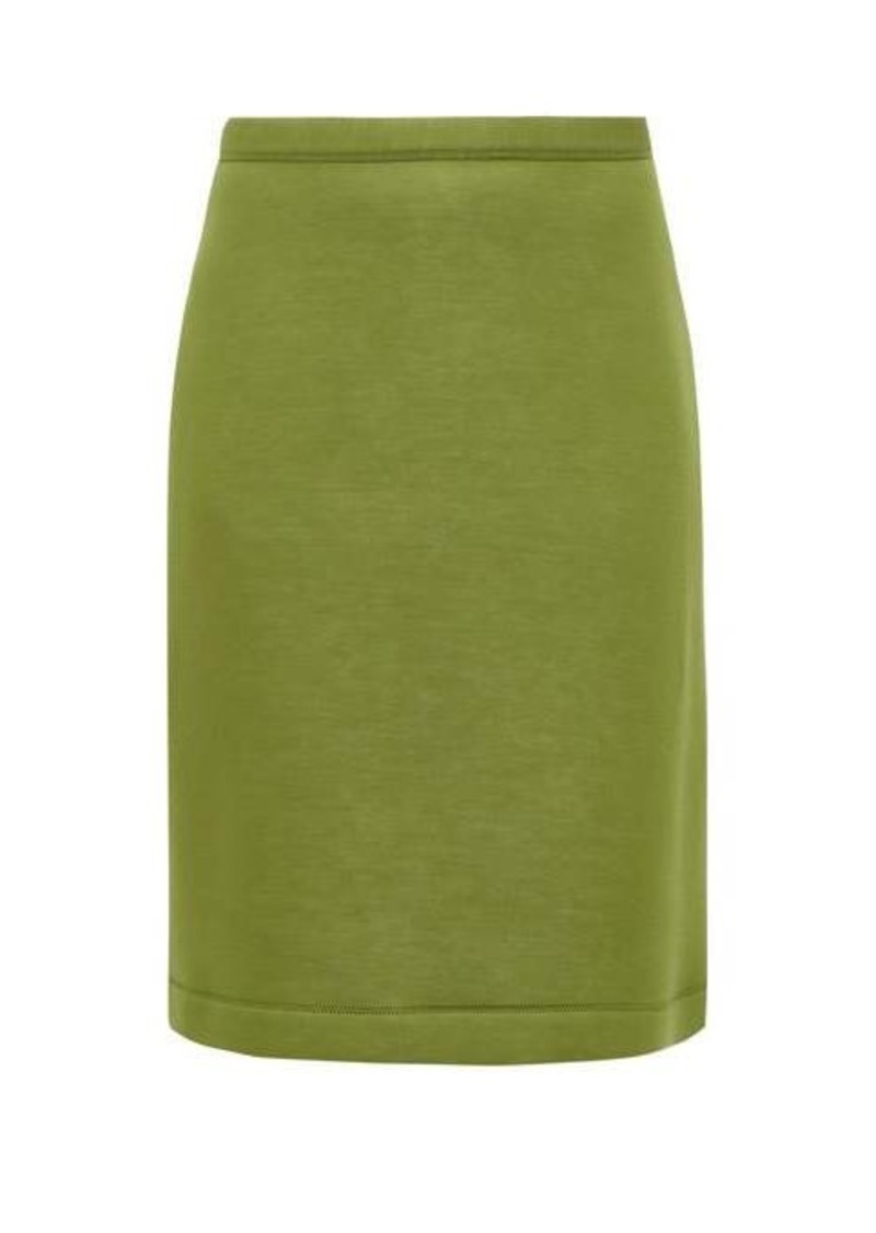 Burberry A-line neoprene skirt