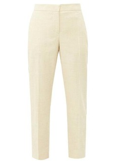 Burberry Addison side-stripe linen straight-leg trousers