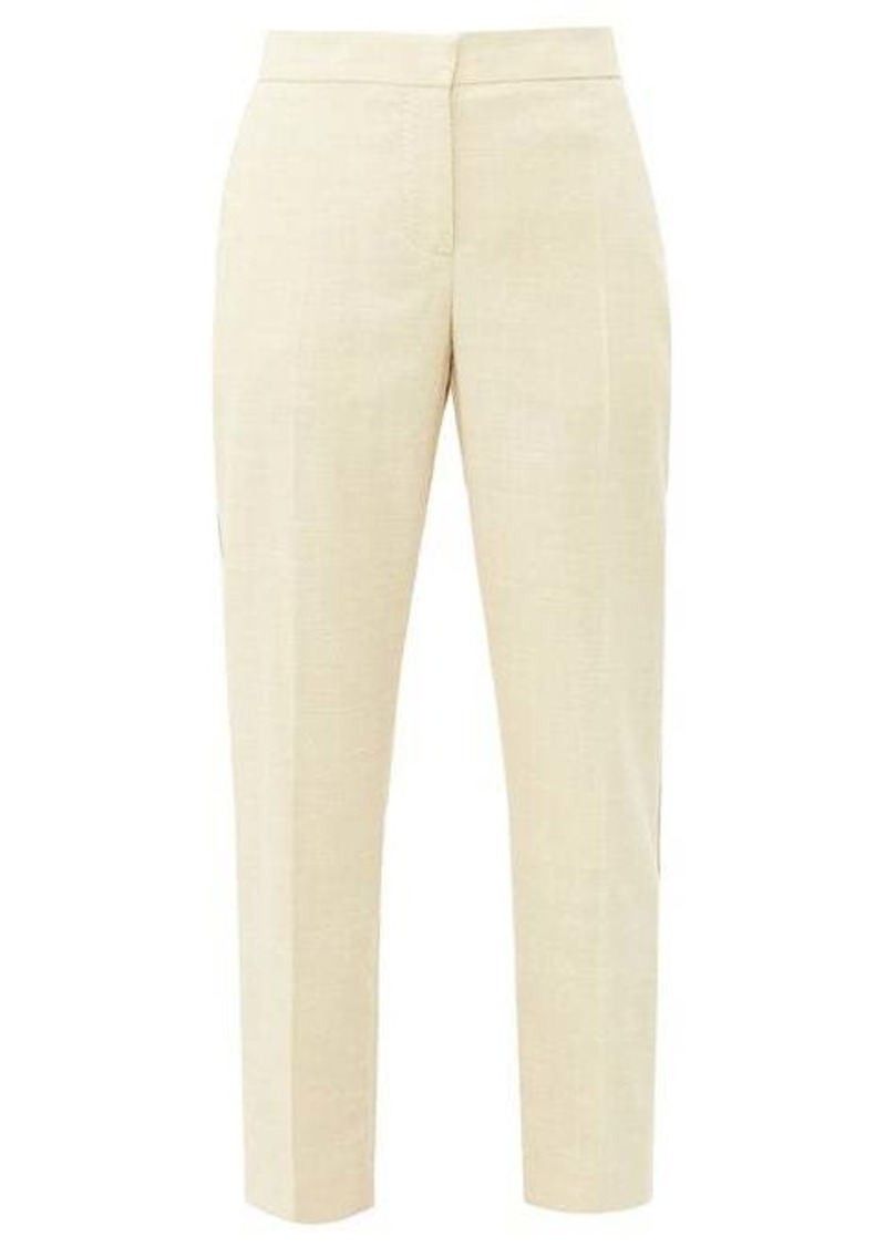 Burberry Addison side-stripe linen straight-leg trousers