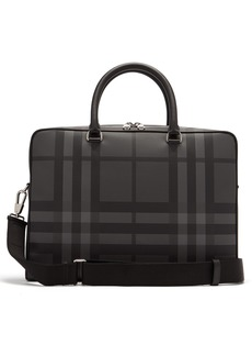 Burberry Ainsworth London-check leather briefcase