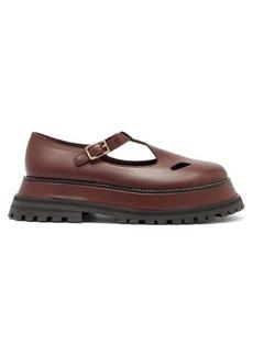 Burberry Aldwych flatform leather dolly loafers