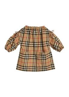 Burberry Alenka Archive Check Long-Sleeve Dress  Size 6M-2