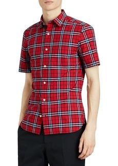 Burberry Alexander Check Short-Sleeve Sport Shirt
