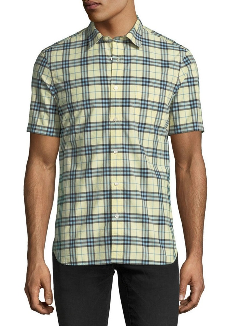 396770cf969e Burberry Burberry Alexander Check Short-Sleeve Sport Shirt