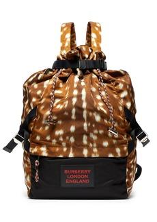 Burberry Animal-print drawstring backpack