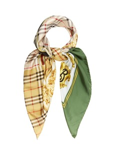 Burberry Archive-print silk square scarf