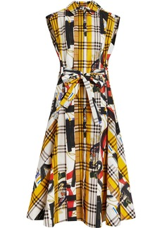 Burberry Archive Scarf Print Check Cotton Shirt Dress - Multicolour