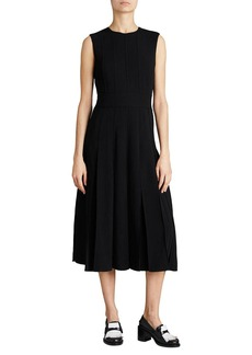Aria Sleeveless Box-Pleat Dress