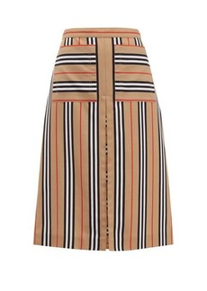 Burberry Arisa box-pleated A-line skirt
