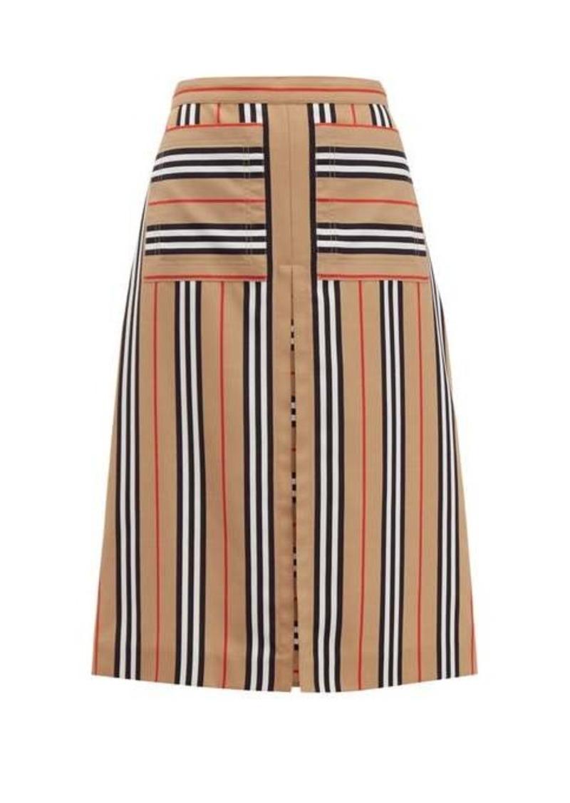 Burberry Arisa box-pleated A-line skirt