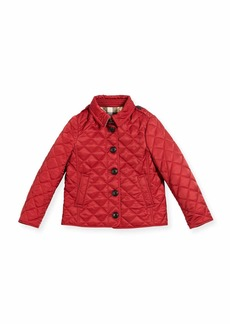 Burberry Ashurst Quilted Button-Front Jacket
