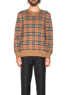 Burberry Banbury Checkered Crew Neck