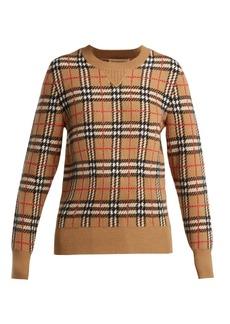 Burberry Banbury Vintage-check cashmere sweater