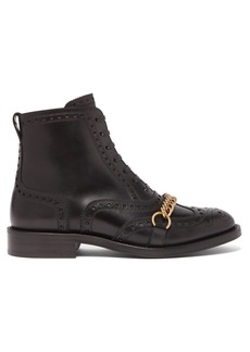 Burberry Barksby brogue leather ankle boots