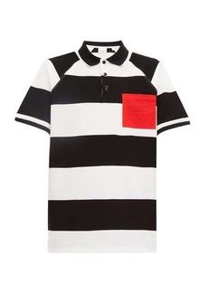 Burberry Barley rugby stripe cotton-piqué polo shirt