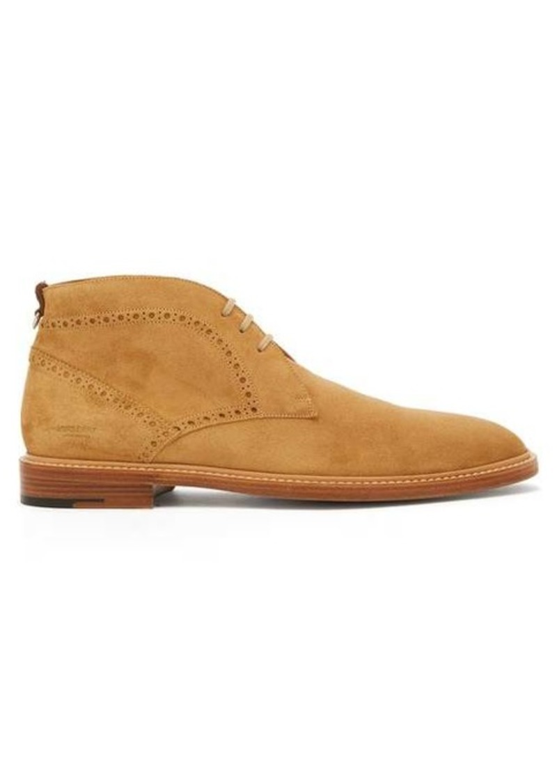 Burberry Barry perforated suede chukka boots