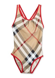 Burberry Beadnell Check One-Piece Swimsuit