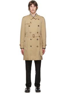 Burberry Beige Kensington Heritage Mid-Length Trench Coat
