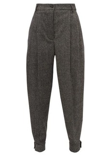 Burberry Belted-ankle wool-blend tapered trousers