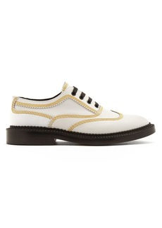 Burberry Bertram topstitched leather brogues