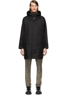 Burberry Black Layered Breasted Coat