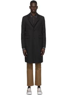 Burberry Black Wool & Cashmere Hawkhurst Coat