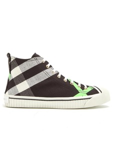 Burberry Bourne high-top canvas trainers