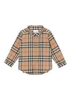 Burberry Boy's Fred Check Shirt  Size 6M-2