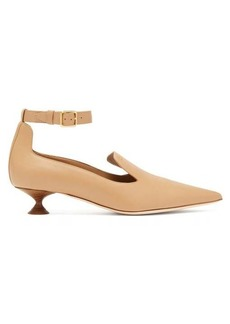 Burberry Brecon point-toe leather pumps