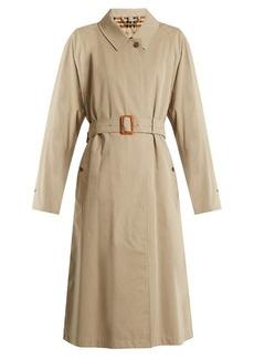 Burberry Brighton long cotton-gabardine trench coat
